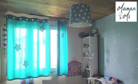 rideaux suspension étoile décoration chambre enfant babobi