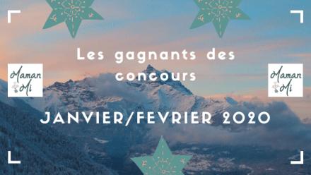 Les gagnants des concours JANVIER_FEVRIER 2020
