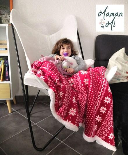 fauteuil léger fourrure blanc transat enfant maman mi maison salon