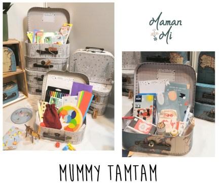 mummy tamtam box voyage enfant valisette activités salon des familles 2020 maman mi
