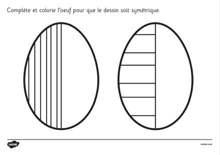 graphisme symétrie paques
