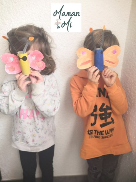 papillon papier toilette activité manuelle enfant