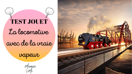 TEST JOUET brio locomotive vapeur