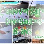 Anniversaire 6 ans dinosaures: entre copains #deco #jeux