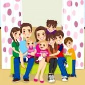 20360302-grande-famille-de-la-mere-et-du-pere-de-sept-enfants-heureux-posant-souriant-ensemble-assis-sur-un-c