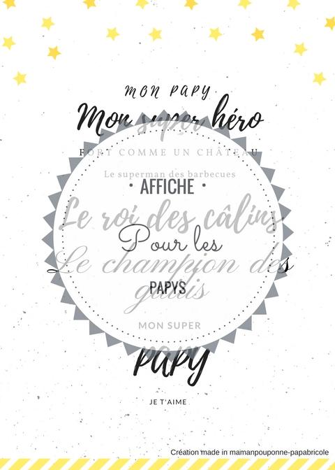 Affiche pour les papys