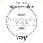 Affiche pour papy/papi/papou à l'occasion de la fête des grands-pères