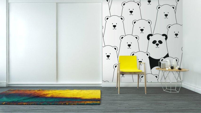 papiers-peints-lavables-pour-salon-themes-vector-seamless-pattern-avec-les-ours-polaires-et-blanc-panda