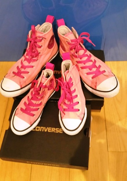 converses-roses-mere-fille