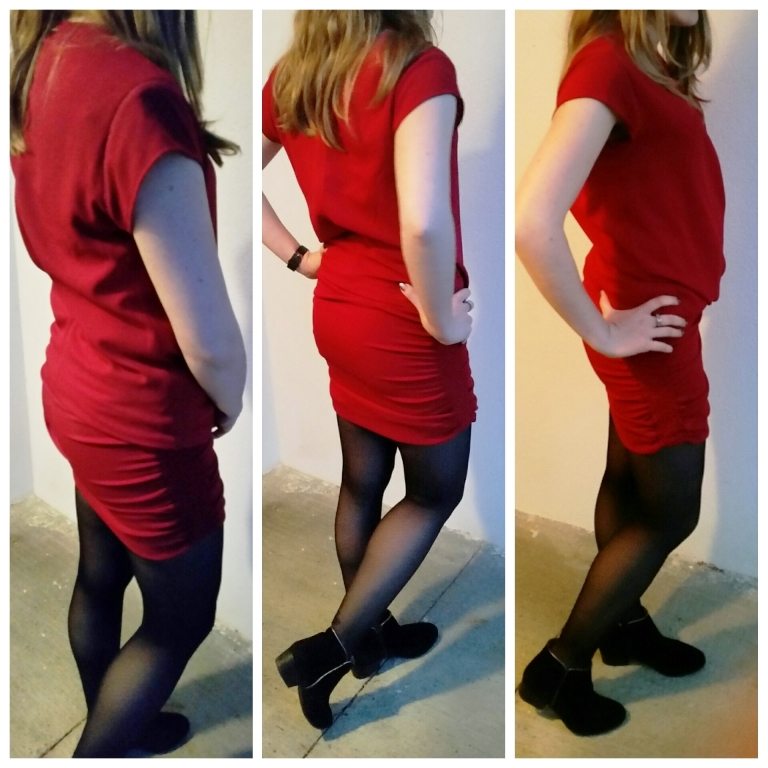 robe rouge ikks look