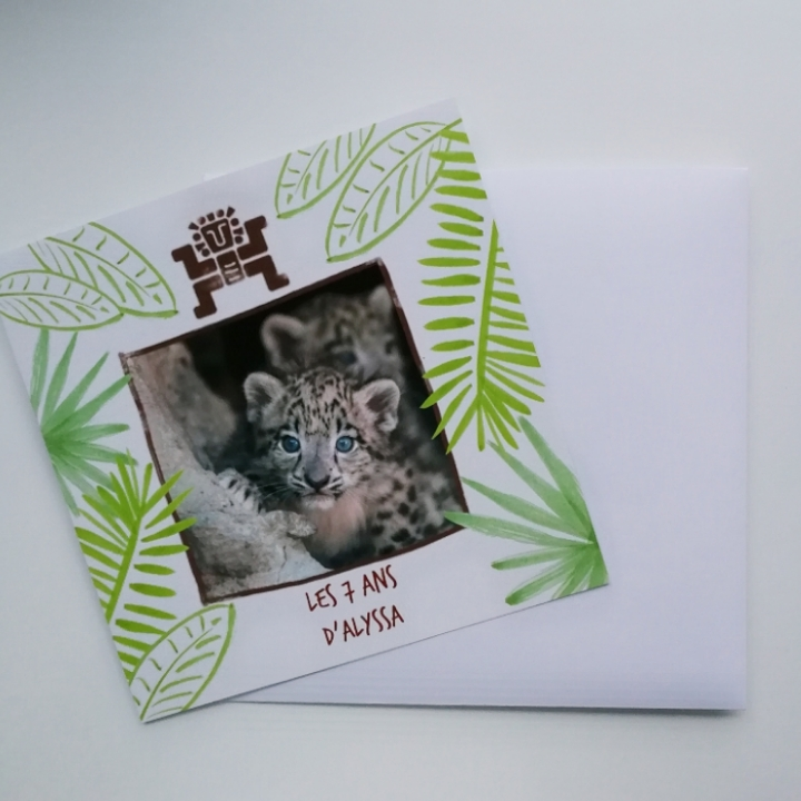 invitations jungle popcarte