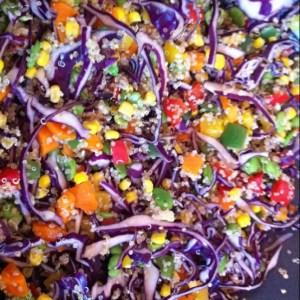 salade quinoa arc-en-ciel