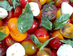 salade d'automne au tomate.