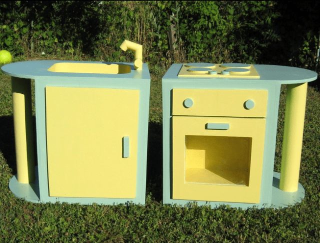 cuisinière en carton - meubles en carton - mamans zen design de vie zen