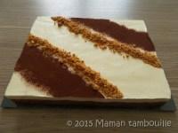 Entremet chocolat caramel nougat Maman Tambouille
