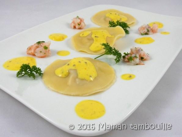 ravioles crevette safran21