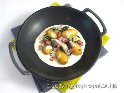 epaule fumée pak choi sauce gorgonzola19