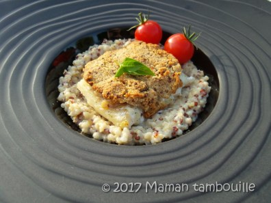 cabillaud croute de moutarde risotto quinoa09