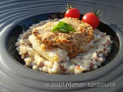 cabillaud croute de moutarde risotto quinoa13
