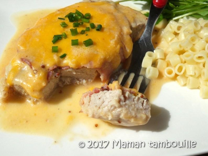 cote de porc moutarde et cheddar15
