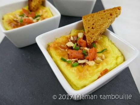 crème de pommes de terre soufflée au saumon17