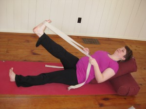 Reclined Big Toe Pose - Prenatal Yoga