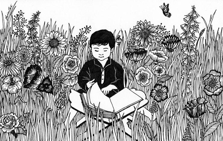 Child-reading-quran-illustration-byZarinaTeli-via-Mamanushkablog