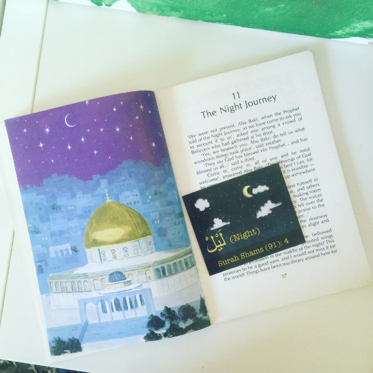 Quranic word NIGHT flashcard || mamanushka.com