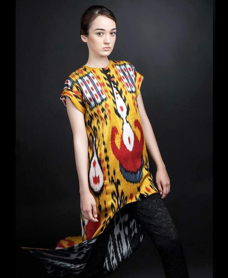MAMANUSHKA.com || Design Inspiration || Uzbekistan || Zulfiya Sulton || Ikat || Fashion || Modest Style