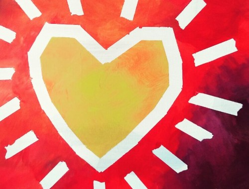 MAMANUSHKA.com || Is Your Heart Shining || Original Painting by Ausma Malik