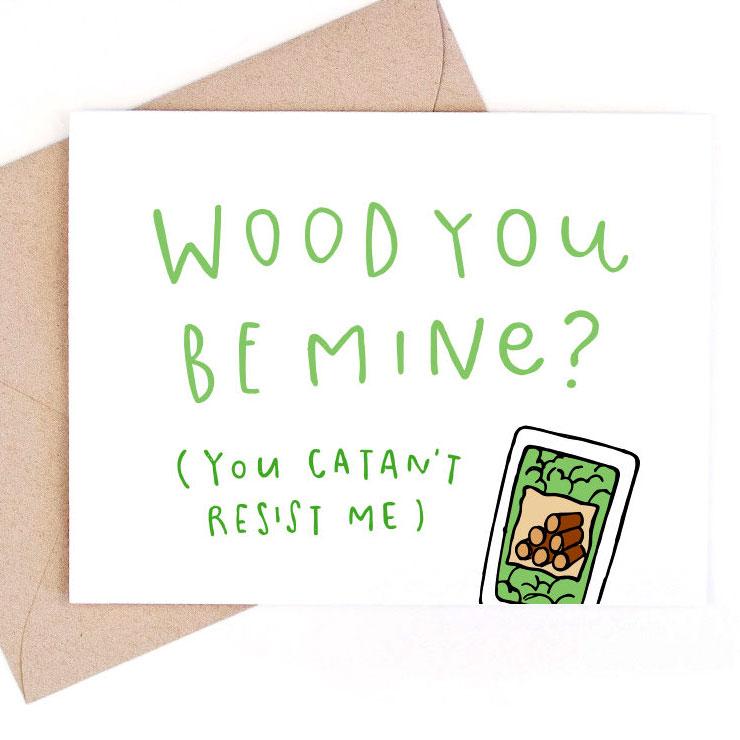 MAMANUSHKA.com || Funny Punny Valentine's Cards || Roundup || Nerd Card || Designed by LeTrango