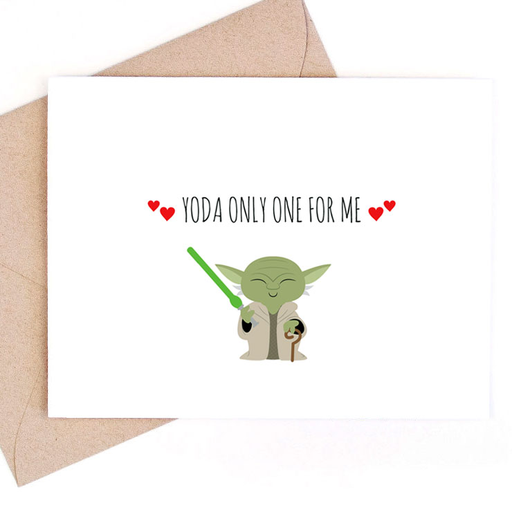 MAMANUSHKA.com || Funny Punny Valentine's Cards || Roundup || Star Wars Card || Designed by Remember November Inc.