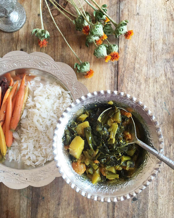 Oulve t'Haakh : An Authentic Kashmiri Greens Recipe