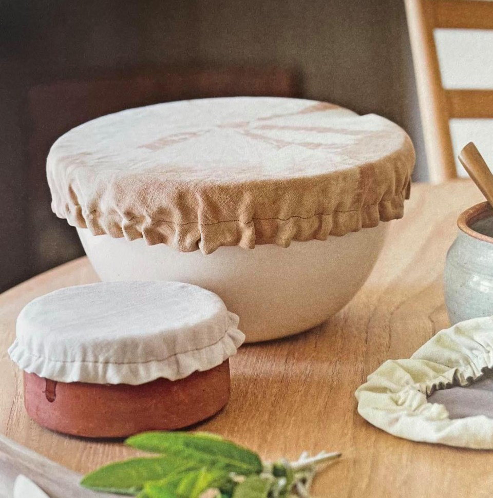 livre créations zéro déchet couture, couvre-plat bol saladier frigo teinture végétale