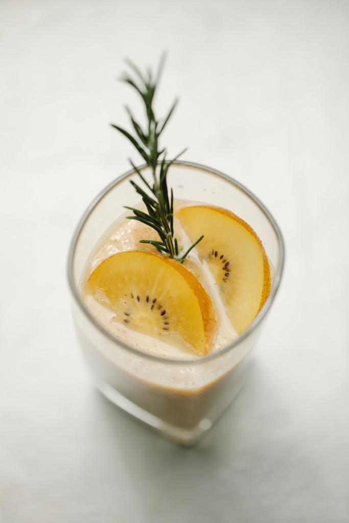 smoothie de kiwi jaune anti-gaspi zéro déchet