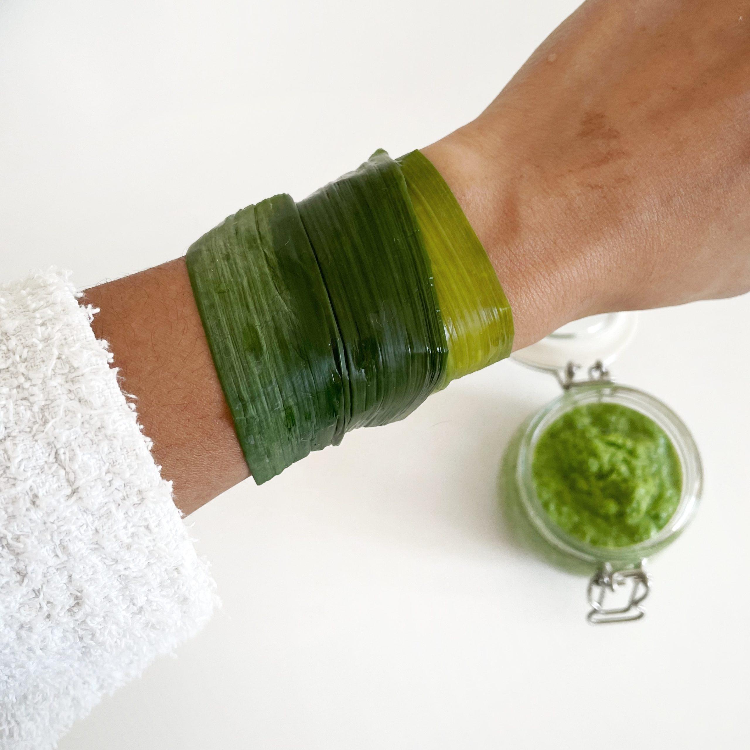 remèdes naturels au vert de poireau cataplasme