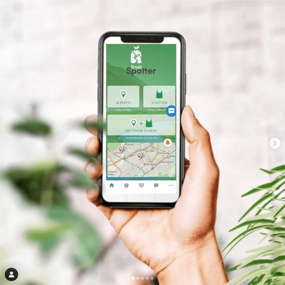 application smartphone trashpotter pour géolocaliser les déchets, partenaire du Ploggathon