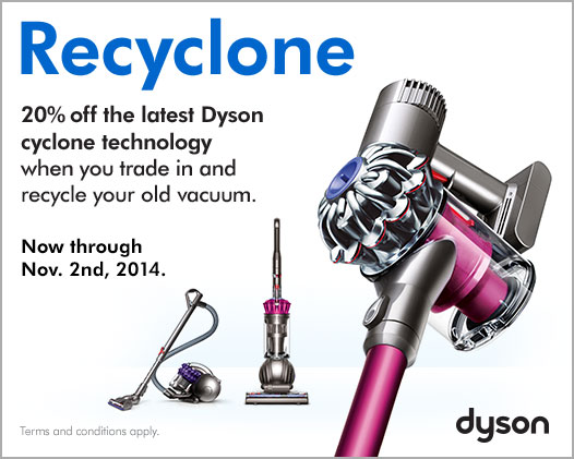 Recycle Old Vacuum Cleaner with Dyson's Recylone Trade InProgram