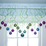 Make a Christmas Window Valance with Your Favorite Ornaments