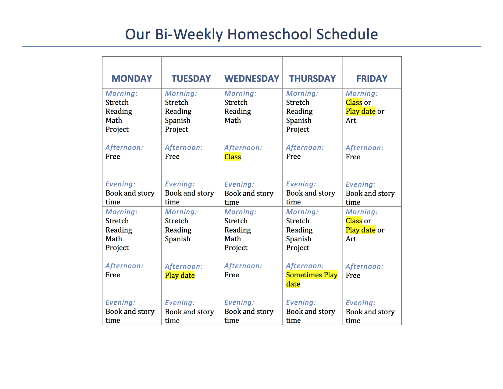 Our 1st Grade Homeschool Schedule And Curriculum