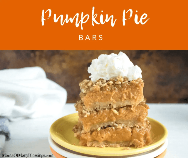 Pumpkin Pie Bars Facebook