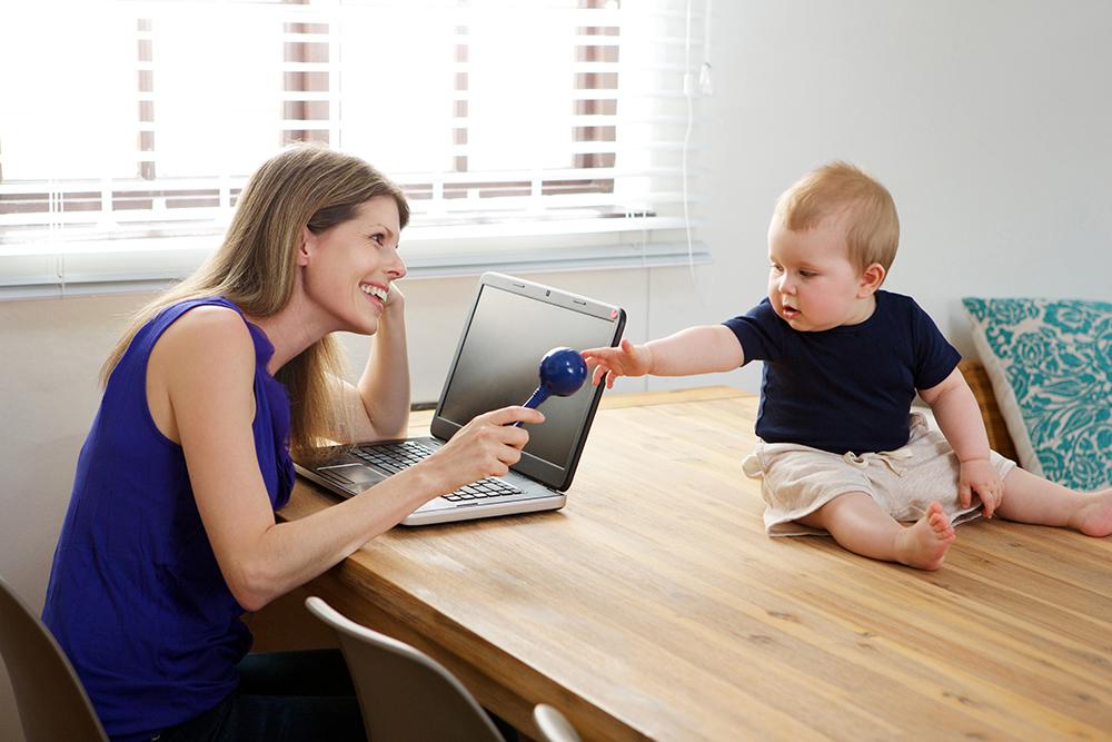 kako organizovati rad od kuce za mame