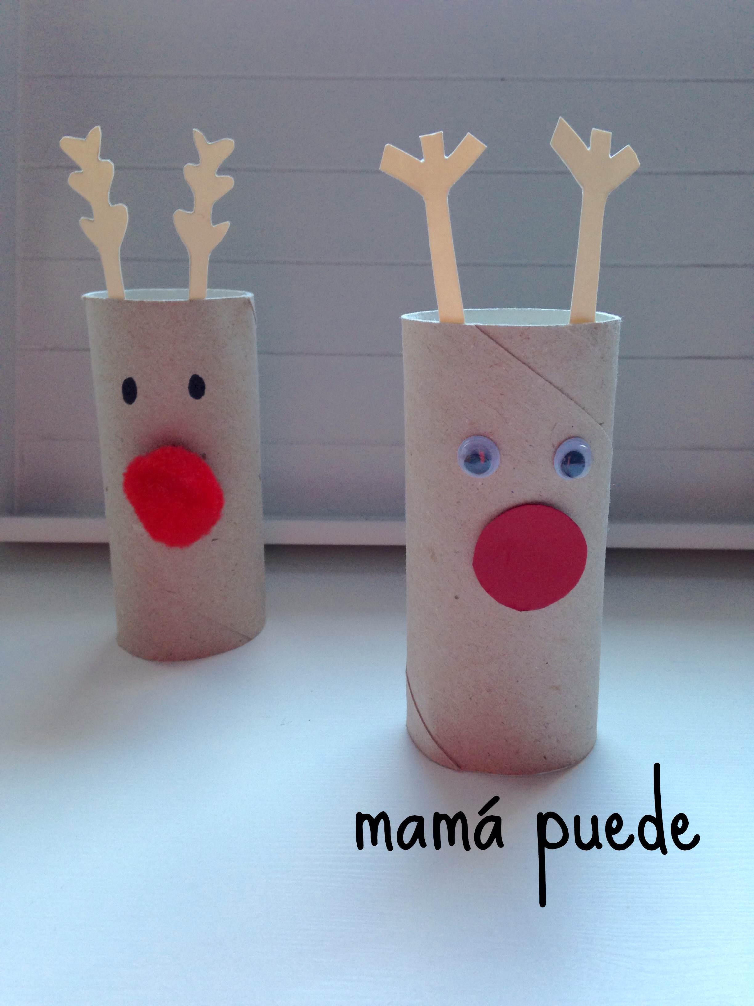 fciles de navidad renos
