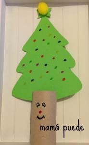 manualidades faciles de Navidad árbol