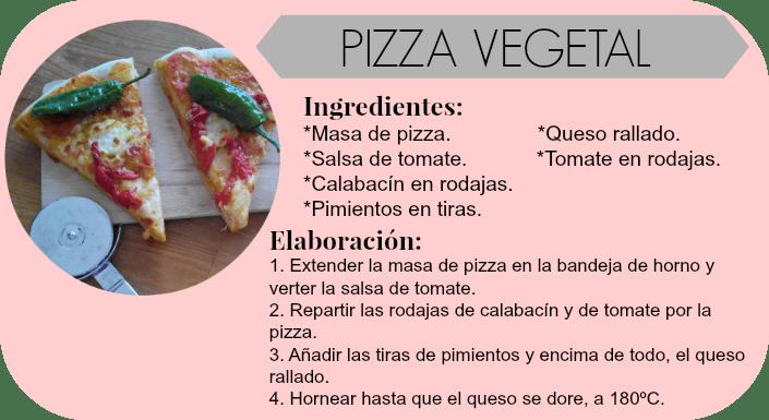 Pizza vegetal, cenas niños