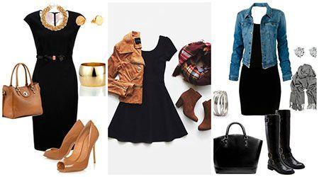 Como combinar un vestido negro encaje