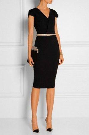 vestido negro look formal