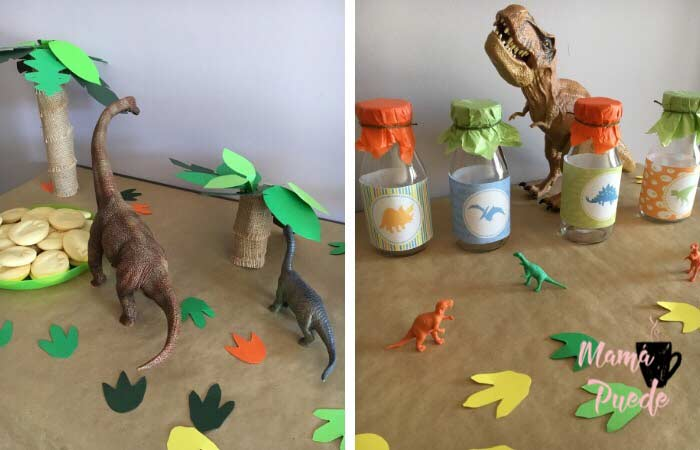 decoración fiesta de dinosaurios
