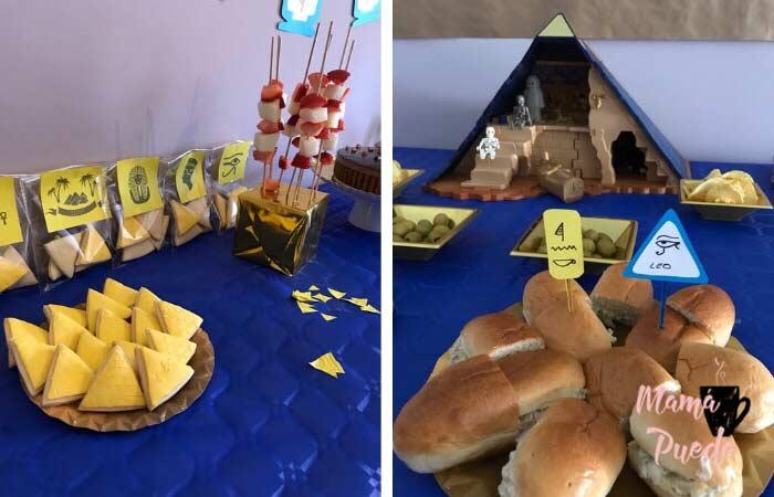 galletas con forma de pirámide