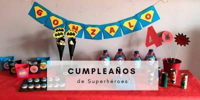 cumpleaños de superheroes